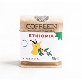 Etiopia Yirgacheffe - svetlé praženie (200 g, zrnková káva)