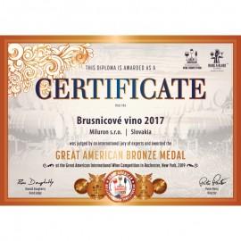 BRUSNICOVÉ VÍNO - LIMITOVANÁ EDÍCIA - 750ml